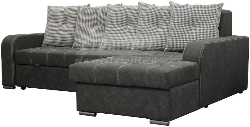 Диван-кровать Столплит Августин угловой зеленый 250x170x84 см (правый угол, 2 категория)
