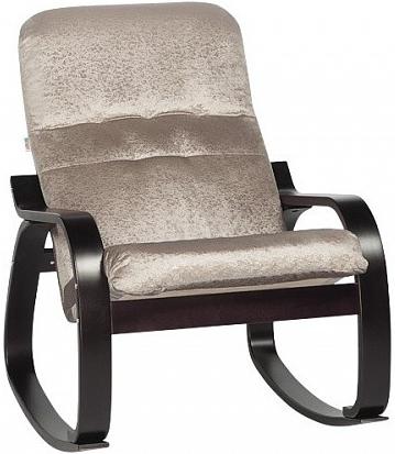 Кресло-качалка Цвет Диванов Оливер кофейный 69x90x92 см