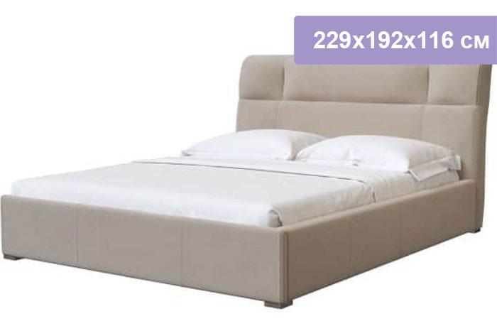 Двуспальная кровать Интердизайн Тоскано Софт бежевый/бежевый 229x192x116 см (ортопедическое основание)