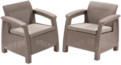 Комплект мебели Allibert Corfu duo капучино песок