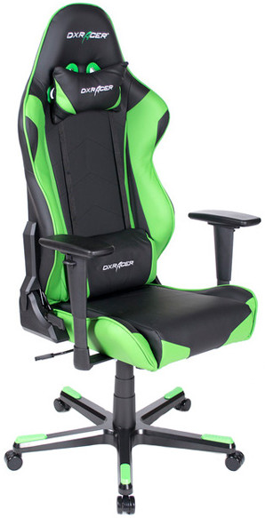 Игровое кресло DXRacer OH/RE0/NE черный/зеленый