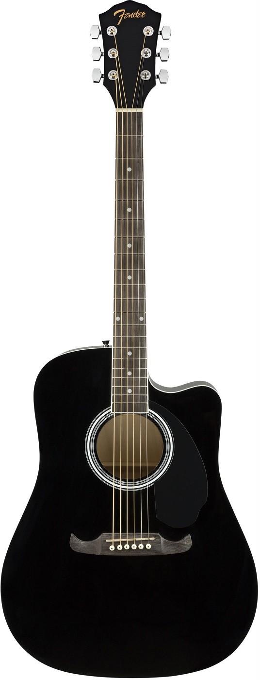 Акустическая гитара Fender FA-125CE Dreadnought Black