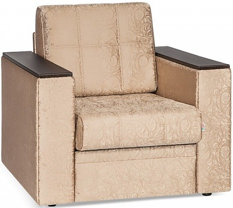 Кресло-кровать Цвет Диванов Атланта Next молочный шоколад 108x90x94 см