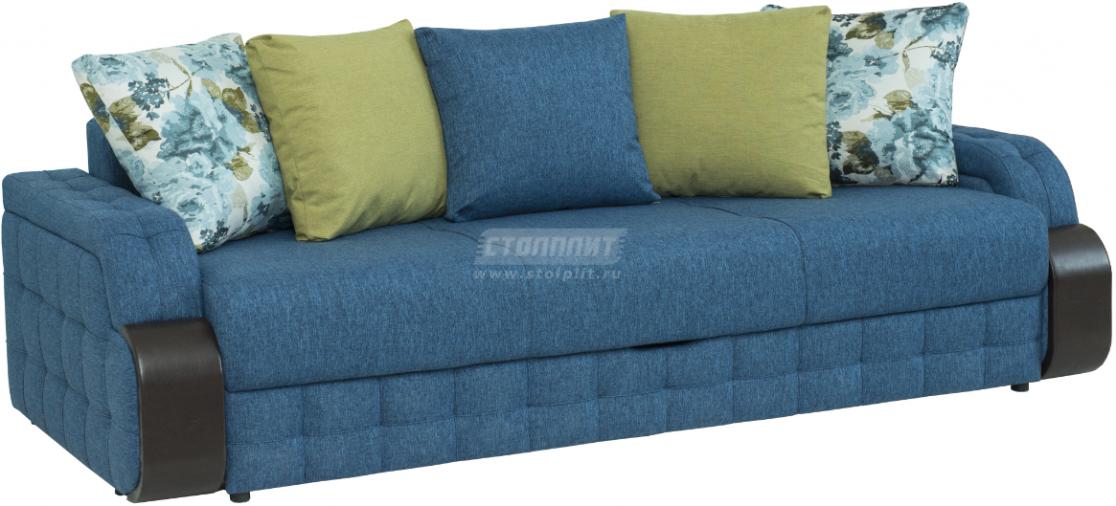 Диван-кровать Столплит Антей БД синий 243x111x89 мм