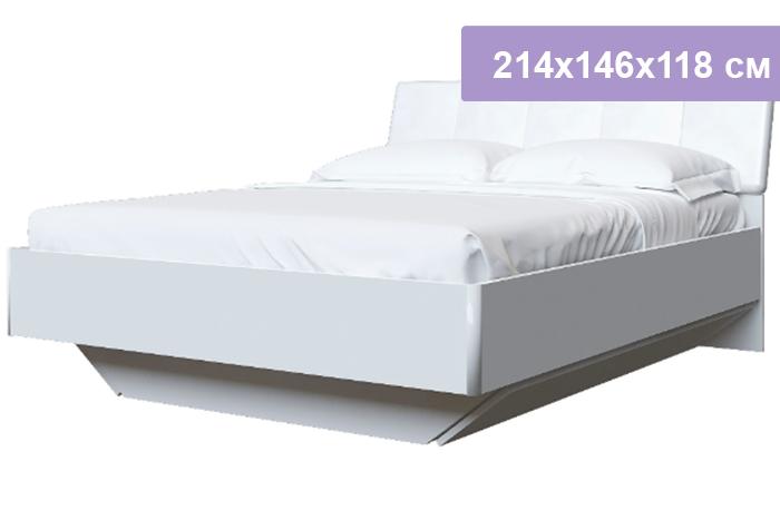 Двуспальная кровать Интердизайн Белла New белый/белый 214x146x118 см (ортопедическое основание)