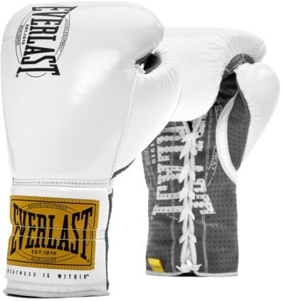 Перчатки Everlast 1910 Classic 10oz White (на шнуровке)