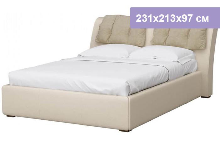 Двуспальная кровать Интердизайн Моника бежевый/бежевый 231x213x97 см (ортопедическое основание)