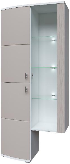 Шкаф Интердизайн Монако белый/капучино 202x90x37 см
