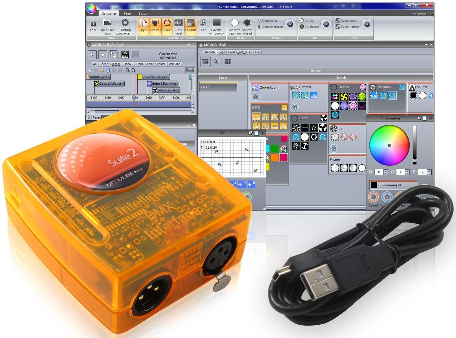 DMX-контроллер Sunlite Suite2-FC (Ethernet Outs - 4X512)