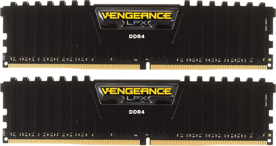 Память Corsair Vengeance LPX DIMM DDR4 2x8Gb 2400MHz Black