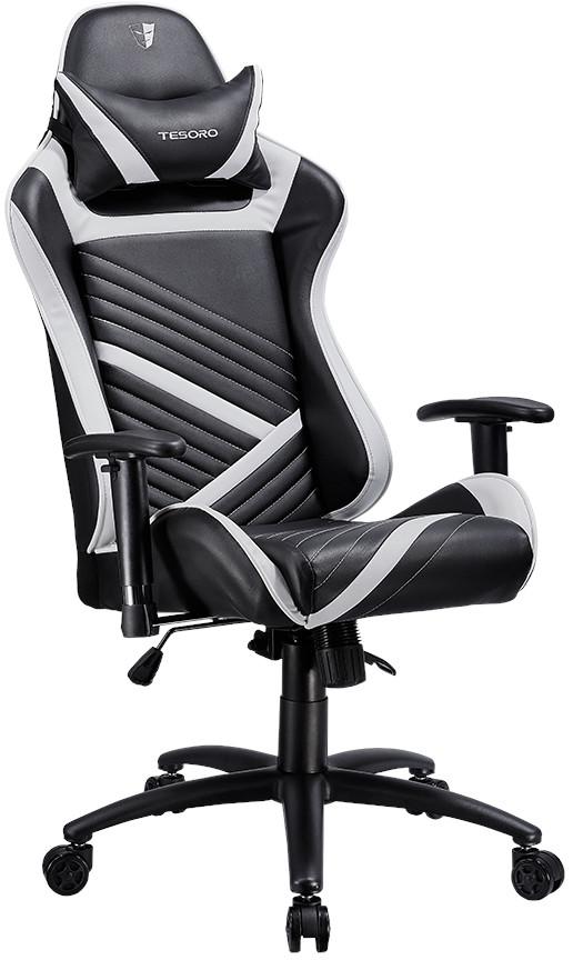 Игровое кресло Tesoro Zone Speed черный/белый