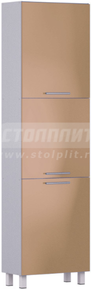 Пенал Столплит Анна 301-560-360-0939 алюминий/капучино 60x214x29 см