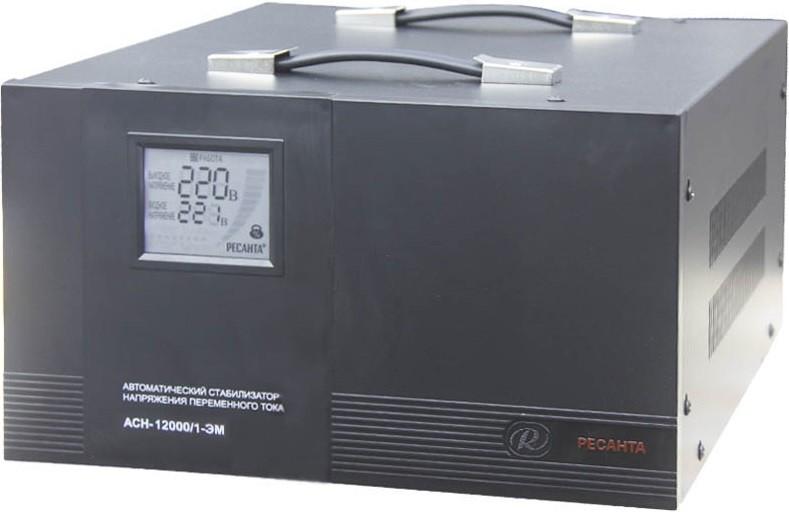 Стабилизатор напряжения Ресанта ACH-12000/1-ЭМ (ЖК-дисплей)