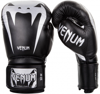 Перчатки Venum Giant 3.0 Black/Silver Nappa Leather