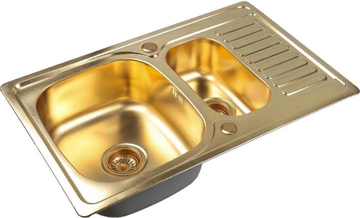 Кухонная мойка Zorg SZR-78-2-50 Bronze