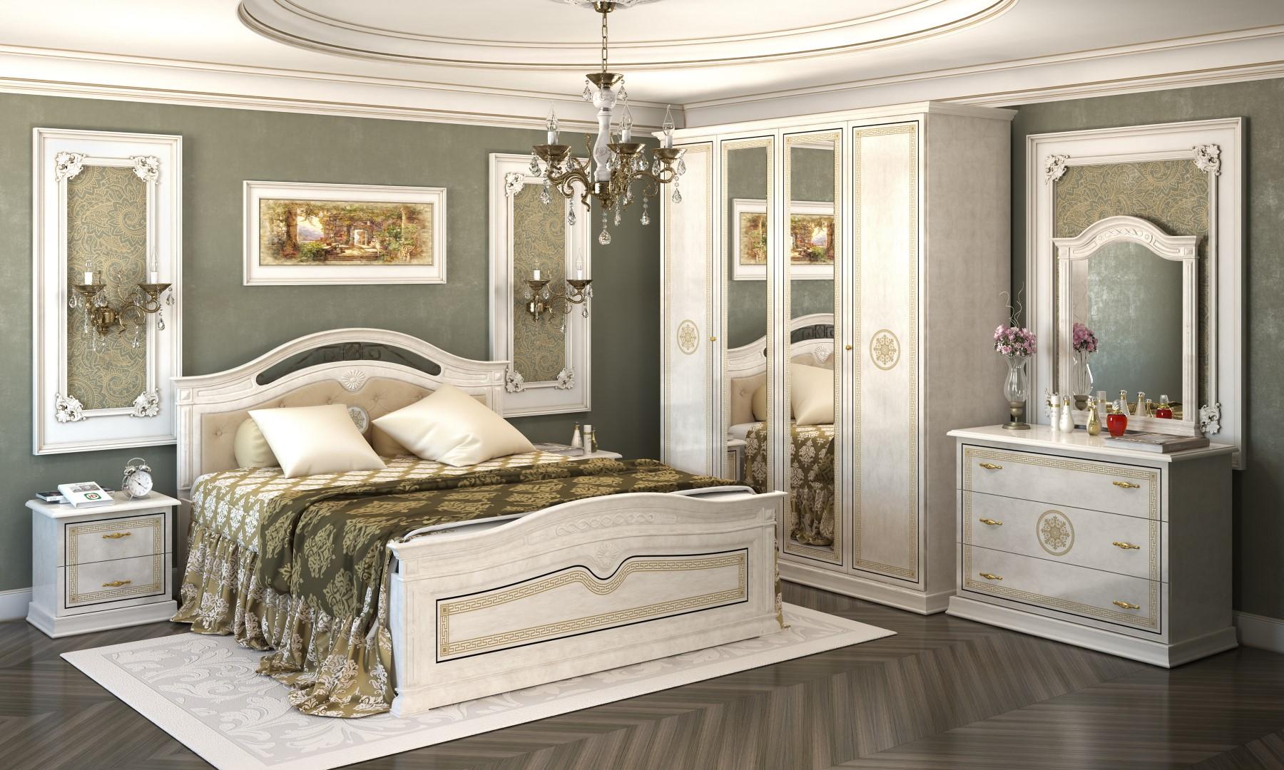 Спальня Интердизайн Версаль бежевый/бежевый