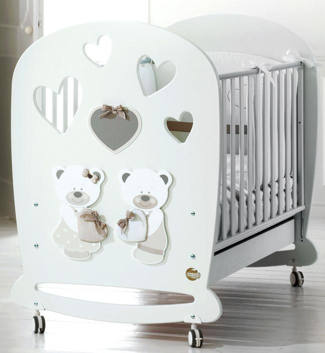 Кроватка Baby Expert Bon Bon белый/серо…