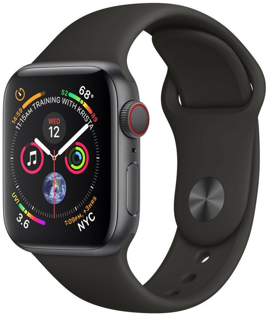 Умные часы Apple Watch Series 4 Cellular 40mm MTUG2 Space Grey/Black