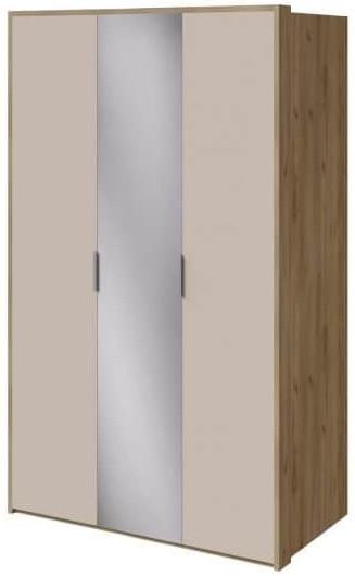 Шкаф Интердизайн Тоскано дуб крафт/капучино 2209x1420x599 см (с зеркалом)