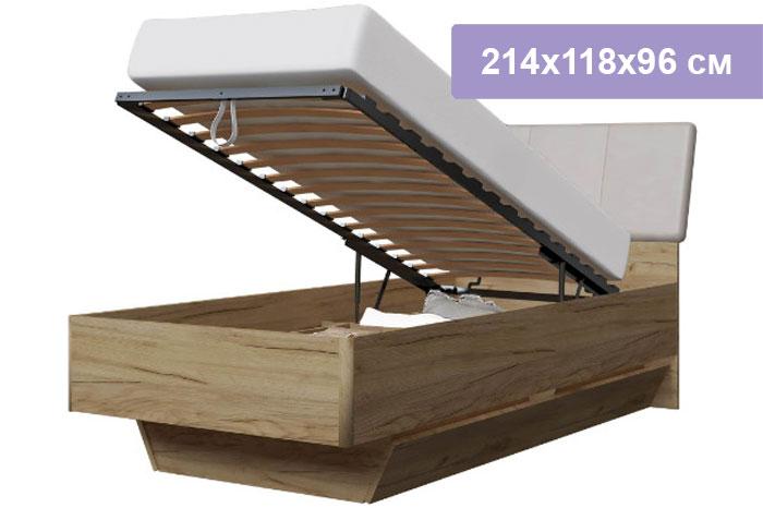 Односпальная кровать Интердизайн Тоскано дуб крафт/капучино 214x118x96 см (подъемный механизм)
