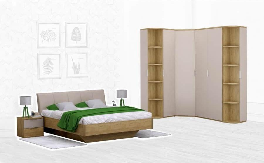 Спальня Интердизайн Тоскано дуб крафт/капучино (композиция 4)