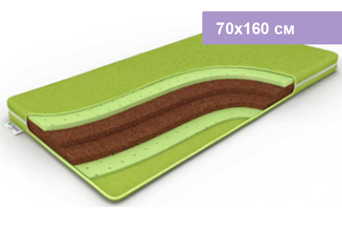 Матрас DreamLine BabyOrganic Green 70х160 см