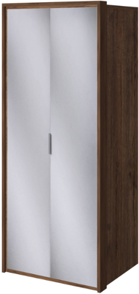 Шкаф Интердизайн Тоскано темно-коричневый/коричневый 221x97x60 см (с зеркалами)
