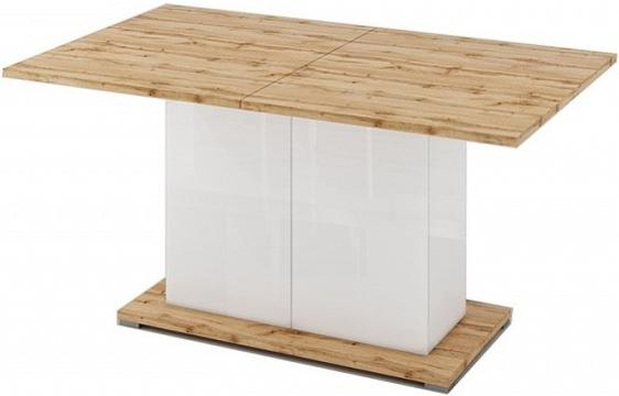 Кухонный стол Цвет Диванов Сахара 1912.М1 дуб вотан/белый лак 150x90x75 см