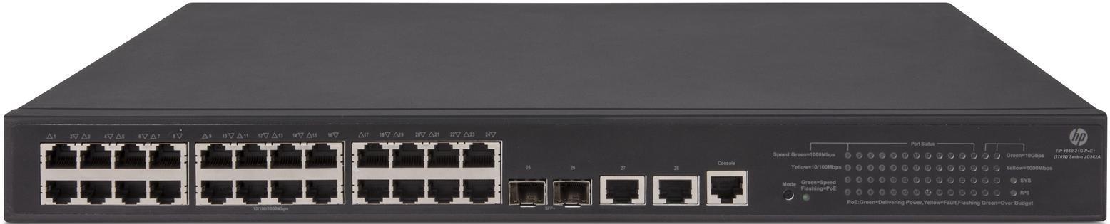 Коммутатор HP OfficeConnect 1950-24G-2SFP+-2XGT-PoE+