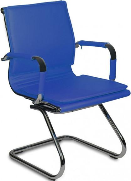 Кресло посетителя Бюрократ CH-993-LOW-V/BLUE синий