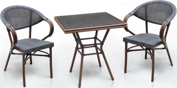 Комплект мебели Афина-Мебель T130/D2003S темно-коричневый