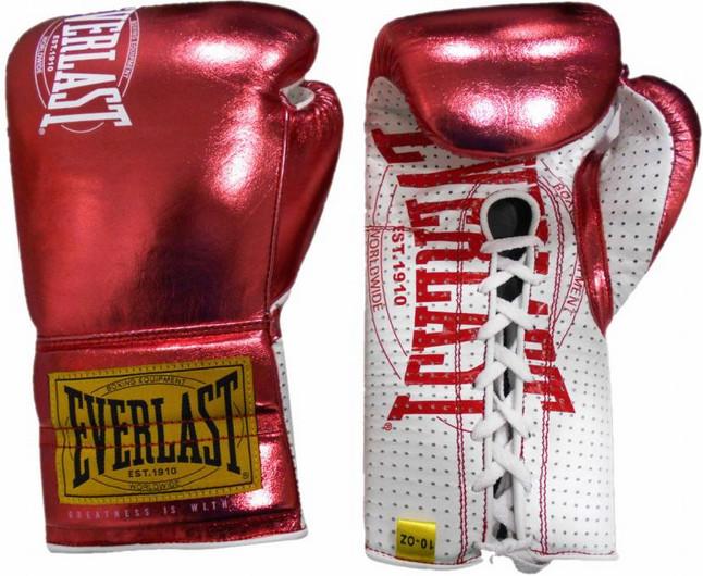 Перчатки Everlast 1910 Classic 10oz Red (на шнуровке)
