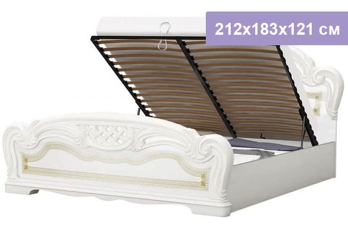 Двуспальная кровать Интердизайн Лара бежевый/бежевый 212x183x121 см (подъемный механизм)