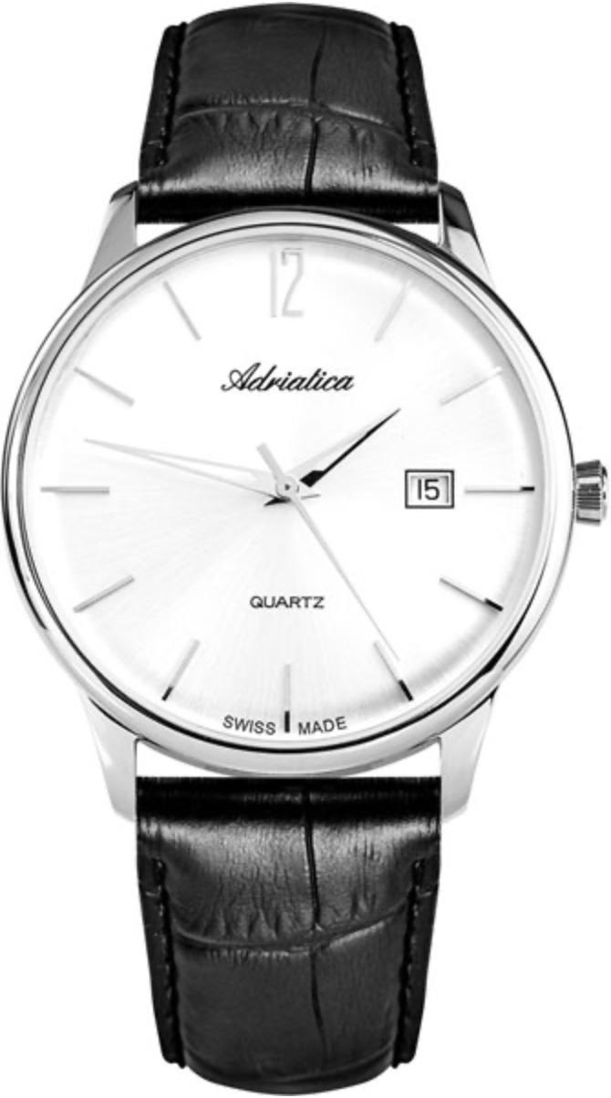 Наручные часы Adriatica Gents A8254 серебристый/кожаный