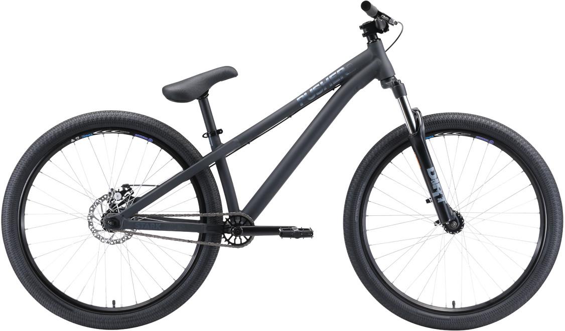 """Велосипед Stark Pusher 2 (2020) черный/серый 26""""/S"""