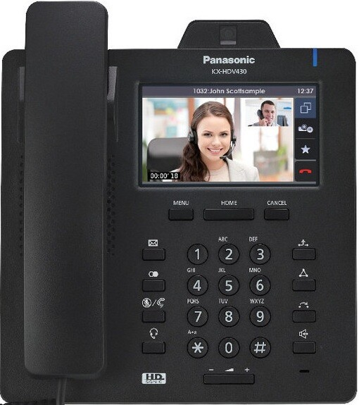 SIP-видеотелефон Panasonic KX HDV430 Black