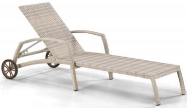 Шезлонг-лежак Афина-Мебель A35C-W85 латте (без матраса)