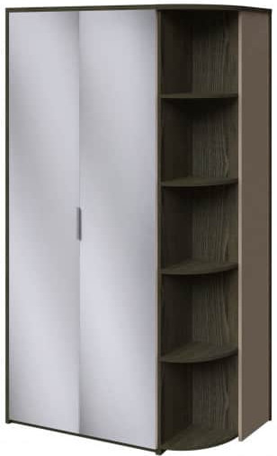 Шкаф Интердизайн Тоскано ясень темный/капучино 2209x1220x599 см