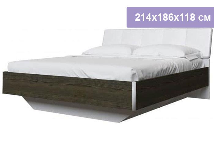 Двуспальная кровать Интердизайн Тоскано ясень темный/белый 214x186x118 см (ортопедическое основание)