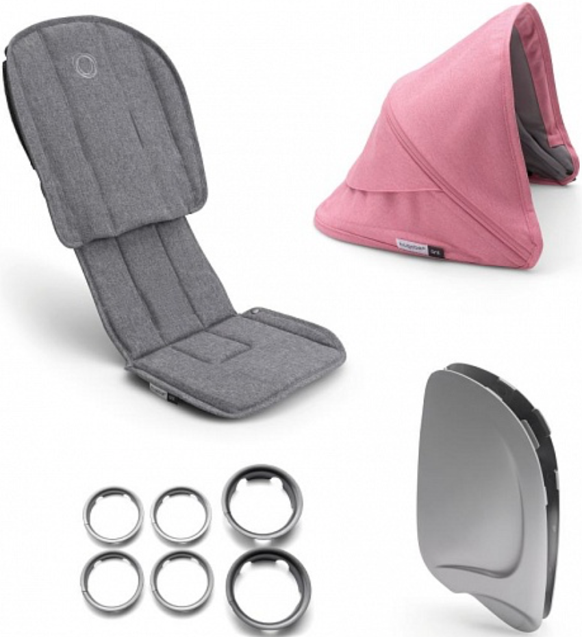 Комплект для коляски Bugaboo 910210PI01 Grey Melange/Pink Melange