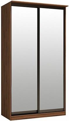 Шкаф-купе Цвет Диванов Тибр К-2 орех каннеро 125x60x234 см (двухдверный с зеркалом)