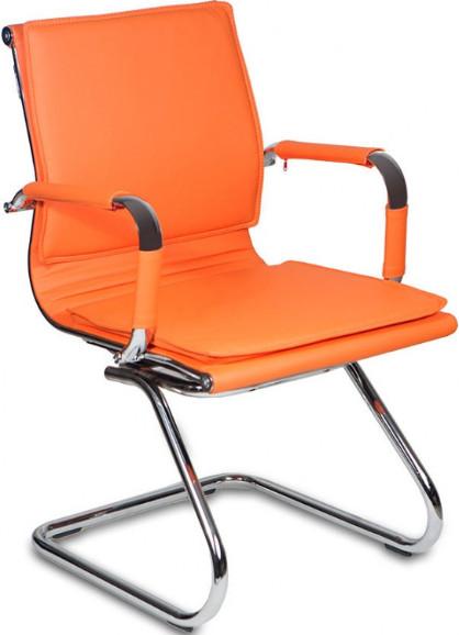 Кресло посетителя Бюрократ CH-993-LOW-V/ORANGE оранжевый