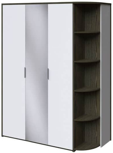 Шкаф Интердизайн Тоскано ясень темный/белый 2209x1622x599 см