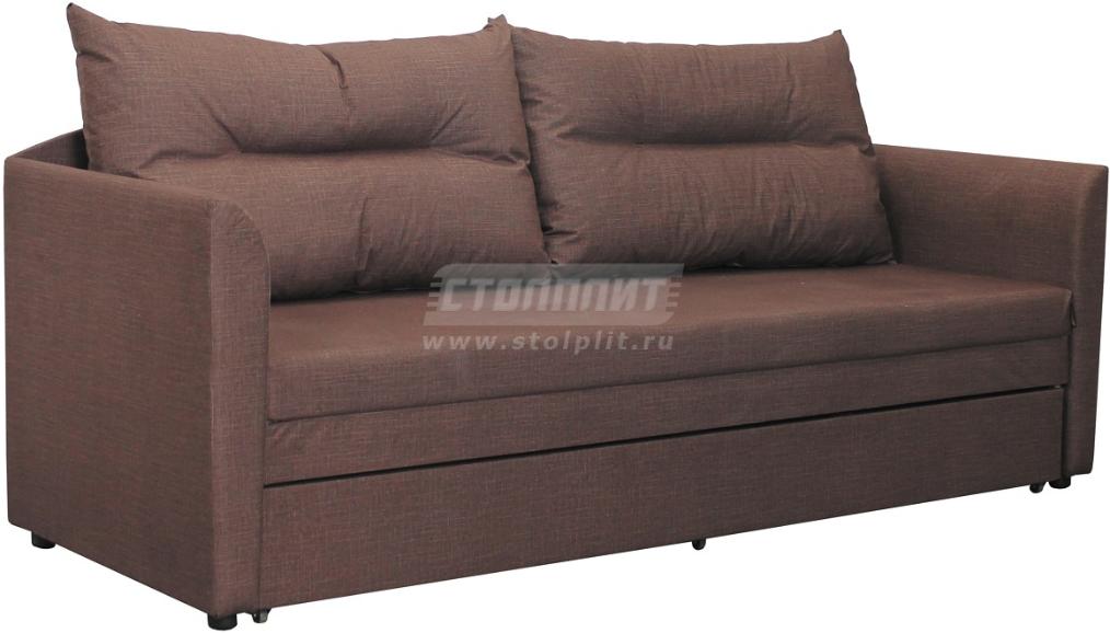 Диван-кровать Столплит Беатрис-4 велюр шоколадный 207x78x75 см