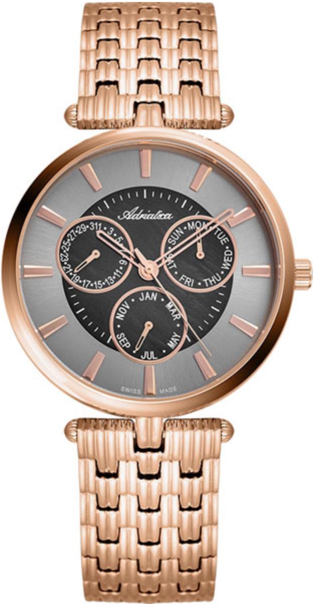 Наручные часы Adriatica Essence A3709 перламутровый серый/стальной