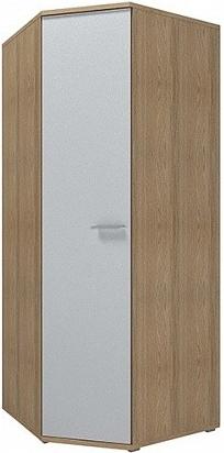 Шкаф Цвет Диванов Вейла В-20.0 угловой дуб каньон светлый/белый полуглянец 88x88x215 см