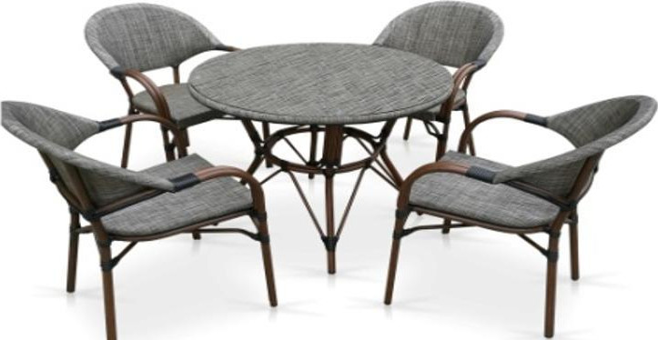 Комплект мебели Афина-Мебель T071/C029-TX D90 серо-бежевый