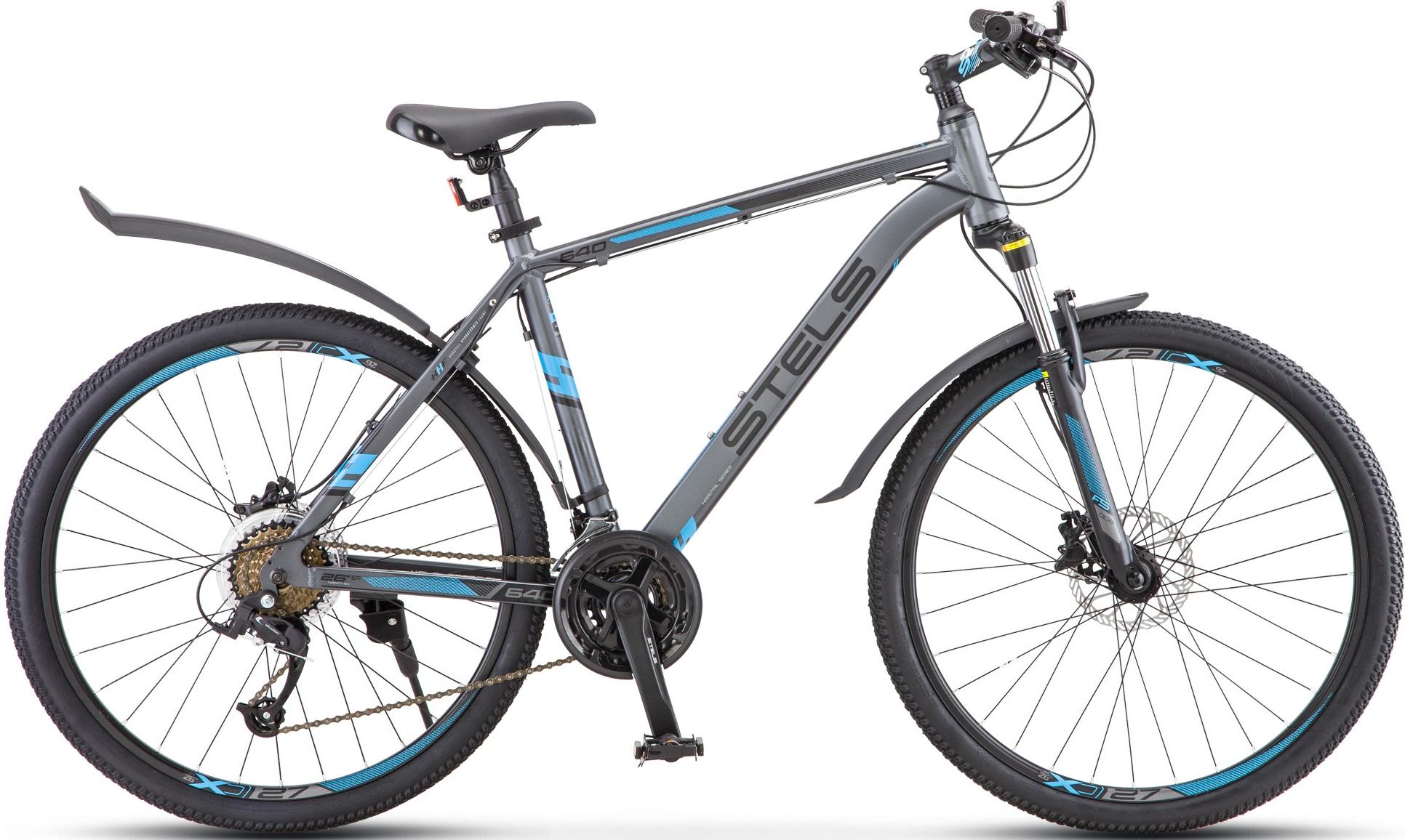 "Велосипед Stels Navigator 640 D 26 V010 серый/синий 26""/19"""