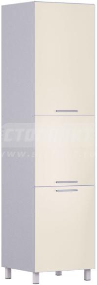 Пенал Столплит Анна 301-360-360-0938 алюминий/ваниль 60x237x56 см