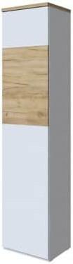 Шкаф Интердизайн Тоскано 31.101.OkW дуб/белый 2000x452x375 см (правый)